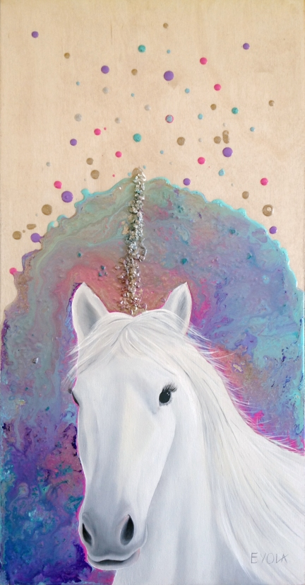 "La licorne (12"" x 24"")"