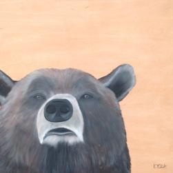 L'Ours qui voit la vie en rose (24 x 24″) 288$ + tx