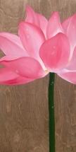Le lotus en vous (12″ x 24″) 216$ + tx