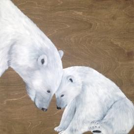 """L'amour de l'ours (24 x 24"""")"""